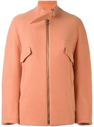 Chloe Boxy Jacket Yellow And Orange