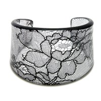 Lily Gardner Shaped Black Lace Cuff