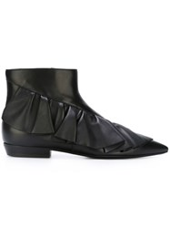 J.W.Anderson J.W. Anderson Ruffle Detail Boots Black
