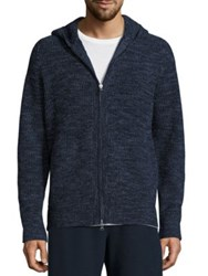 Vince Wool And Cashmere Zip Front Jacket Navy