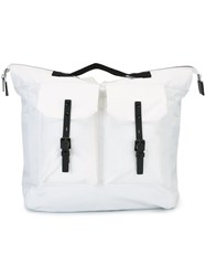 Ally Capellino Large 'Frank' Rucksack White