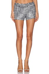 Rachel Zoe Leti Fringed Shorts Gray