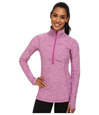 New Balance In Transit Half Zip Jacket Deep Orchid Women's Long Sleeve Pullover Purple