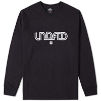 Undefeated Long Sleeve Track Lines Tee Black