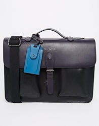Ted Baker Leather Satchel Blue