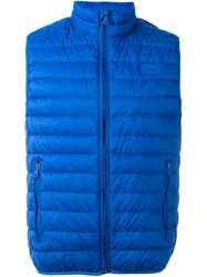 Armani Jeans Padded Gilet Blue