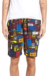 Adidas Men's Originals Retro Logo Print Drawstring Shorts