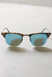 Anthropologie Ray Ban Lightray Clubmaster Sunglasses Blue One Size Eyewear