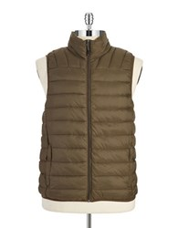 Hawke And Co Packable Puffer Vest Green