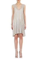 Missoni Pleated Trapeze Dress Silver