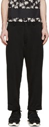 Y 3 Black Cropped Lounge Pants