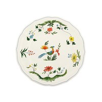 Gien Oiseaux De Paradis Dinner Plates Set Of 4
