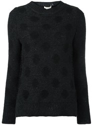 Marc Jacobs Polka Dot Knitted Jumper Grey