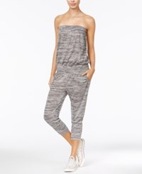 American Rag Strapless Cropped Jumpsuit Only At Macy's Medium Heather Grey