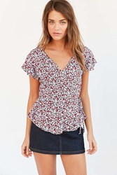 Kimchi And Blue Kimchi Blue Fiona Floral Tie Waist Blouse Floral Multi