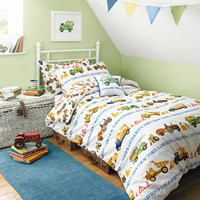 Emma Bridgewater Men At Work Single Duvet Cover And Pillowcase Set