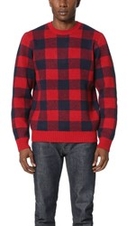 Obey Landon Sweater Red Multi