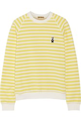 Peter Jensen Mariner Striped Cotton Sweatshirt Yellow