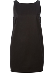 Red Valentino Plunging Back Dress With A Bow Detail Black