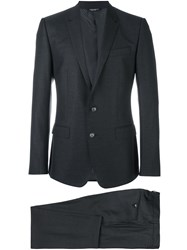 Dolce And Gabbana Formal Suit Grey