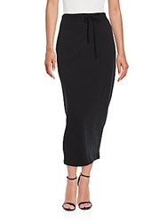 James Perse Solid Pencil Skirt Black