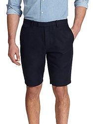 Michael Kors Cotton And Linen Shorts Midnight