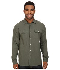 Rip Curl Nando Long Sleeve Flannel Green Men's Clothing