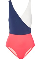 Solid And Striped The Ballerina Color Block Swimsuit Navy