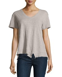 Jethro Slouchy Asymmetric V Neck Top Elephant