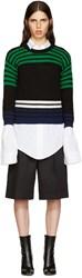 Raf Simons Black Wool Stripes Sweater