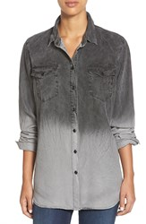 Cj By Cookie Johnson Dye Dip Chambray Shirt Grey Ombre