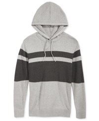American Rag Men's Hooded Mesh Sweater Only At Macy's Pewter Heather