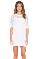 Shae Crochet Mini Dress White