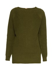 Adam By Adam Lippes Ribbed Knit Cotton And Cashmere Blend Sweater