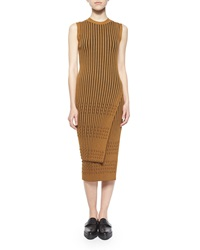 Opening Ceremony Long Sleeve Ribbed Faux Wrap Tunic