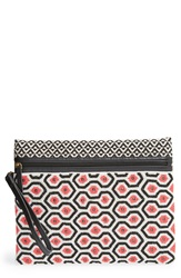 Big Buddha Large Beaded Clutch Coral Multi