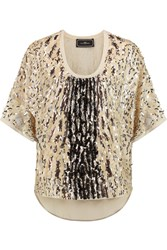 By Malene Birger Aniu Embellished Crepe Top White