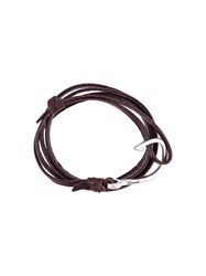 Miansai Hook Wrap Bracelet Brown