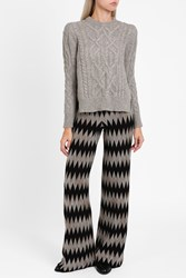 Missoni Women S Zigzag Trousers Boutique1 Brown