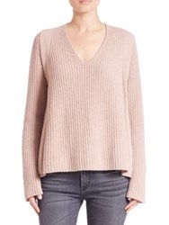 Helmut Lang V Neck Wool Sweater Shell Dust