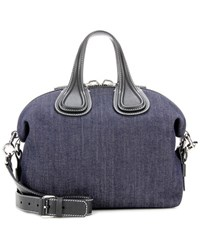 Givenchy Nightingale Small Denim And Leather Tote Blue