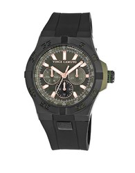 Vince Camuto Black Stainless Steel Chronograph Vc1010gnbk Gunmetal