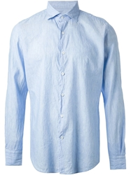 Glanshirt Creased Shirt Blue
