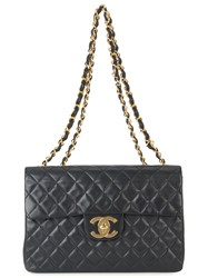 Chanel Vintage Jumbo Quilted Double Chain Black
