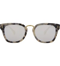 Illesteva Positano Square Frame Sunglasses White Tortoise With