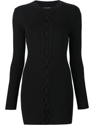 Neil Barrett Cable Knitted Dress Black