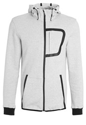 Your Turn Active Tracksuit Top Grey Melange Mottled Light Grey