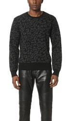 Ovadia And Sons Leopard Sweater Black Charcoal