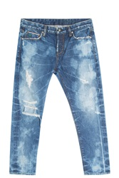 Tortoise Jeans Savanna Destroyed Jeans Blue