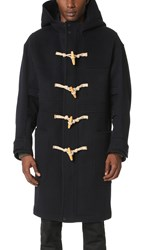 Heich Es Heich Long Duffle Coat Navy